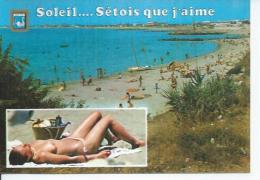 2423 - SETE - LA PLAGE DE LA CORNICHE ( Animées - NUS - NUE - NU  ) CETTE - Sete (Cette)