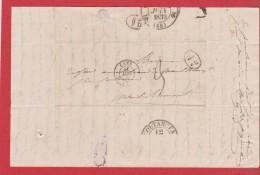 Lettre De Caen    -  Pour Coutances   -- 12 Juin 1839  --  Beau Cachet Coutances Au Dos - Marcofilia (sobres)