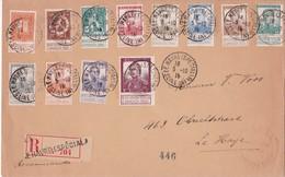 BELGIQUE 1915 LETTRE RECOMMANDEE DE LE HAVRE AVEC CACHET ARRIVEE - 1915-1920 Albert I