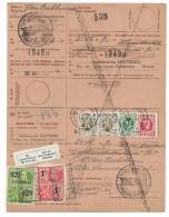 Ontvangkaart/ Carte Récépissé 29 III 1930 Antwerpen + Taxe + Label Zal Op Het Kantoor Komen   2.502 Fr.   Perfect - 1922-1927 Houyoux
