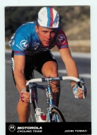 John TOMAC . 2 Scans. Cyclisme. Motorola 1991 - Cycling