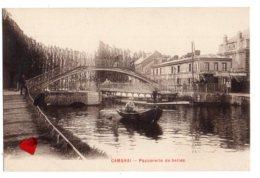 10937-LE-59-CAMBRAI-Passerelles De Selles----------animée-barque - Cambrai