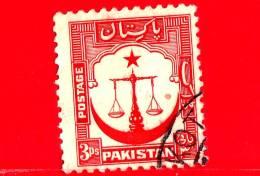 PAKISTAN - Usato - 1948 - Motivi Del Paese - Bilancia Della Giustizia - Mezzaluna - 3 - Pakistan