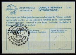 UNITED NATIONS VIENNA  NOBEL PEACE PRIZE Friedensnobelpreis 17.03.89 Reply Coupon Reponse IRC IAS Antwortschein La24 - Cartas