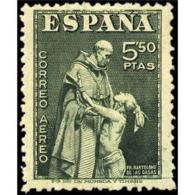 ES1004STV-LFT***1004TAN. FIESTA DE LA HISPANIDAD.DIA DEL SELLO.Aereo.Fray Bartolome De Las Casas.1946. (Ed 1004**) - 1931-50 Nuevos & Fijasellos
