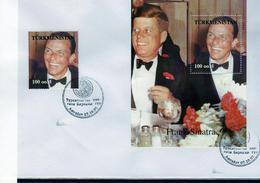 Turkmenistan 1997, Music, F. Sinatra, Kennedy, FDC