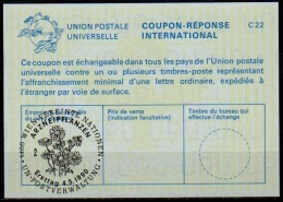 UNITED NATIONS VIENNA  ARZNEIPFLANZEN FDC 04.05.90 On Int. Reply Coupon Reponse IRC IAS Antwortschein La24 - Medizin