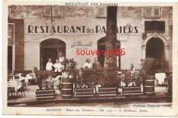 Ajaccio  - Place Des Palmiers - Restaurant Des Palmiers ..J. MORELLI  Propr -- Carte Note  écrite Avec Prix - Ajaccio
