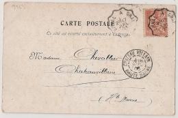 Convoyeur EPINAL A GRAY Sur Carte Postale. 1903. - Marcophilie (Lettres)