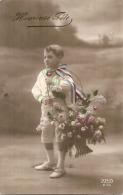 Patriotique Enfant Bouquet Et Runan Tricolore  Heureuse Fête ZED 273 - Patriotiques
