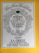 2031 -  Suisse Villette La Grille Réserve Des Députés Du Grand Conseil - Politica (vecchia E Nuova)