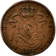 Monnaie, Belgique, Leopold II, Centime, 1902, TB+, Cuivre, KM:34.1 - 1865-1909: Leopold II