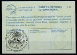 UNITED NATIONS VIENNA UMWELTGIPFEL JUNI 1992  FDC 22.05.92 On Int. Reply Coupon Reponse IRC IAS Antwortschein La25 - Umweltschutz Und Klima