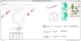SPA. 24 NOVEMBRE 1985 MARION DUFRESNE OP 86/1. TIMBRE FRANCAIS - Terres Australes Et Antarctiques Françaises (TAAF)