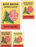 Czechoslovakia 1945-1973 Export Algerie Boites D'allumettes-etiquettes, Matchbox Labels, 4 Roses Brand, 4 Diff.issue - Boites D'allumettes - Etiquettes