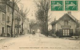 D 19 - SN 1662 - Ussel - Avenue De La Gare - Café Restaurant - Attelage - Ussel