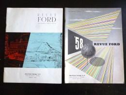 REVUE FORD N°20 ET 35 AMERICAN GARAGE 1954 1958 TOURNAI BELGIQUE PUBLICITE AUTOMOBILE VOITURE CAR MERCURY ANGLIA LINCOLN - Auto