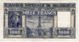 Intéressant Et Peu Courant 1000 Francs Type Albert Ier, En SUP+ Du 17.03.1947 - [ 2] 1831-... : Royaume De Belgique