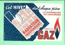 BUVARD: Radiateur Gaz - Buvards, Protège-cahiers Illustrés
