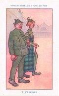 ILLUSTRATEUR HANSI.TOURISTES ALLEMANDS A L ARRIVEE ALMANACH D ALSACE LORRAINE 1914 - Hansi