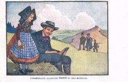 ILLUSTRATEUR HANSI.L HUMORISTE ALSACIEN HANSI ET SES MODELES ALMANACH D ALSACE LORRAINE 1914 - Hansi