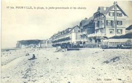 122  76  POURVILLE  La Plage La Jetée Promenade Et Les Chalets - Dieppe