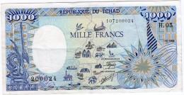 SUPERBE BILLET DE 1000 FRANCS DU 01.01.1988 - Tchad