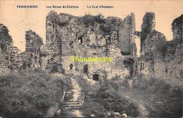 CPA  FRANCHIMONT LES RUINES DU CHATEAU LA COUR D'HONNEUR - Theux