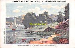 CPA  88 GRAND HOTEL DU LAC GERARDMER VOSGES - Gerardmer