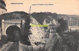 CPA  COMBLAIN AU PONT  LIGNES DE L'AMBLEVE ET DE L'OURTHE TRAIN A VAPEUR - Comblain-au-Pont