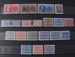 "ITALIA Luogotenenza -1945 ""Lotto"" 18 Val. MNH** (descrizione) - 5. 1944-46 Lieutenance & Humbert II:"