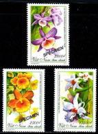 Vietnam Viet Nam MNH SPECIMEN Perf Stamps 2013 : Orchid (Ms1034) - Vietnam