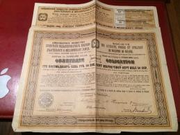 SOCIÉTÉ  Des  ACIÉRIES , FORGES  Et  ATELIERS  De  MACHINES  De  BRIANSK-----Obligation - Russie