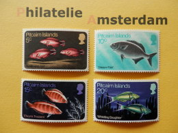 Pitcairn Islands 1970, FAUNA FISH FISCHE VISSEN POISSONS PECES PESCI: Mi 114-17, ** - Fische