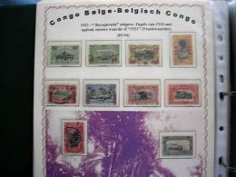 BELGISCH  CONGO NRS 85/94 GESTEMPELD - Belgisch-Kongo