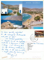 Galissas, Syros, Greece Postcard Posted 2002 Stamp - Greece