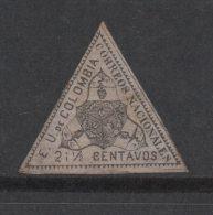 A634-. KOLUMBIEN / COLOMBIA - 1865 - MI #: 33 - 2 I 1/2 CENT BLACK. MINT. ARMS COAT. CAT VAL : 25 EUROS - Kolumbien
