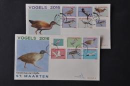 ST. MAARTEN 2016 FDC 67 AB VOGELS BIRDS OISEAUX BLANK - Curaçao, Antille Olandesi, Aruba