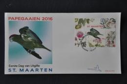 ST. MAARTEN 2016 FDC 72-75 VOGELS BIRDS OISEAUX BLANK - Curaçao, Antille Olandesi, Aruba