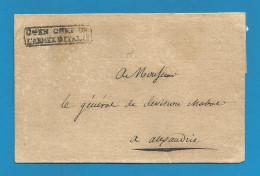 France - LSC De ARMEE D'ITALIE Vers Alexandrie (Piémont) - Cachet Général En Chef - Verso Cachet Etat Major Général - Army Postmarks (before 1900)