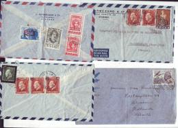 OB11 °°°   GRECE  Superbe  Lot De  17  Lettres Pour La France Entre  1946 Et 1948 - Cartas