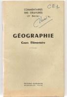 Affiche Scolaire Livret Des Commentaires Des Gravures De Géographie Du N° 49 à 72 Des Editions Rossignol De Montmorillon - Posters