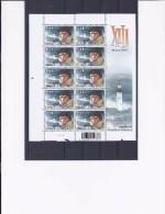 Belgie -Belgique 3233 Velletje Van 10 Postfris - Feuillet De 10 Timbres Neufs  -  XIII - W. Vance - Feuilles Complètes