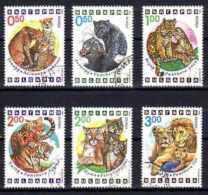 BULGARIE FELINS 1992 (71) N° Yvert 3486 à 3491 Oblitérés Used - Usati