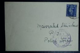 Polish Field Post In Britain, 2.5d Stamp Cancel Oct 30 1942 Polish Field Post In Purple - 1939-44: 2ème Guerre Mondiale