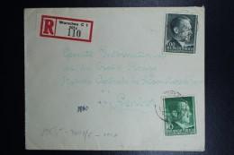 Generalgouvernement Einschreiben Brief  1942 To Red Cross Geneva Geprüft  Nice Cancels - Besetzungen 1938-45
