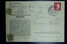 Deutschland Cover Frauen-Konzentrationslager Ravensbrück To Warschau 3-12-1942 Cancel Fürstenberg - Deutschland
