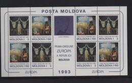 MOLDAVIE (1993)  BF N° 5 **  EUROPA : ART CONTEMPORAIN - Cote 18 € - Europa-CEPT