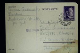 Deutschland Postkarte To  Konzentrationslager Buchenwald From Warschau 23-12-1944 - Allemagne