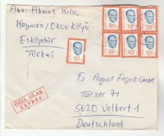 1985 REGISTERED TURKEY Stamps COVER  To Germany - 1921-... Republic
